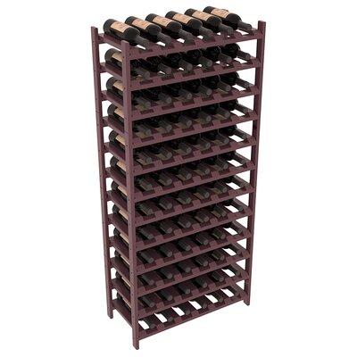 Karnes Pine Stackable 72 Bottle Floor Wine Rack Finish: Burgundy Satin