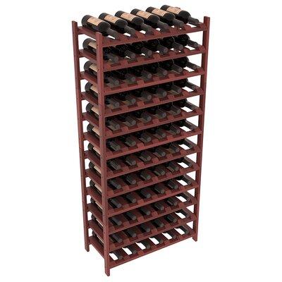 Karnes Redwood Stackable 72 Bottle Floor Wine Rack Finish: Cherry Satin