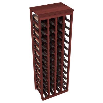Karnes Redwood Table Top 48 Bottle Floor Wine Rack Finish: Cherry