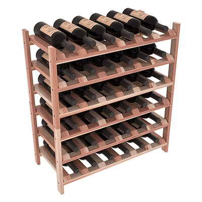 Karnes Redwood Stackable 36 Bottle Floor Wine Rack Finish: Natural Satin