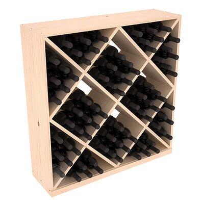 Karnes Pine Diamond Cube 82 Bottle Floor Wine Rack Finish: Natural Satin