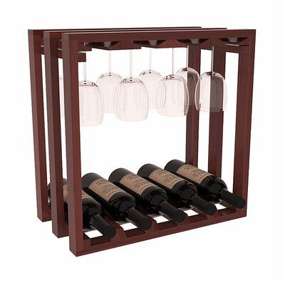 Karnes Redwood Lattice Stemware Cube 10 Bottle Tabletop Wine Rack Finish: Cherry Satin