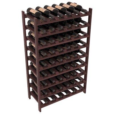 Karnes Redwood Stackable 54 Bottle Floor Wine Rack Finish: Walnut Satin