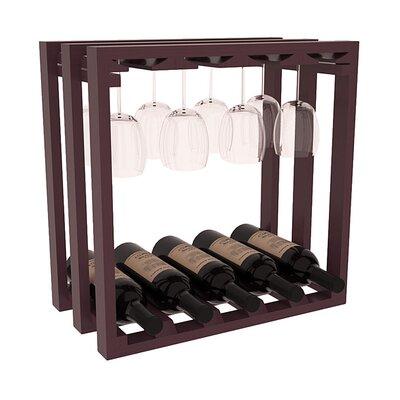 Karnes Pine Lattice Stemware Cube 10 Bottle Tabletop Wine Rack Finish: Burgundy Satin