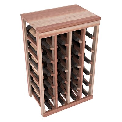 Karnes Redwood Table Top 24 Bottle Floor Wine Rack Finish: Natural Satin