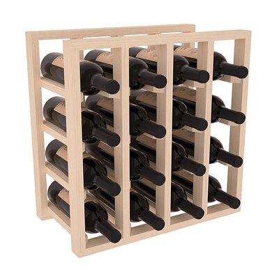 Karnes Pine Lattice 16 Bottle Tabletop Wine Rack Finish: Natural