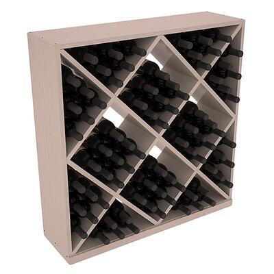 Karnes Pine Diamond Cube 82 Bottle Floor Wine Rack Finish: Gray Satin