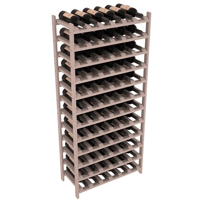 Karnes Redwood Stackable 72 Bottle Floor Wine Rack Finish: Gray