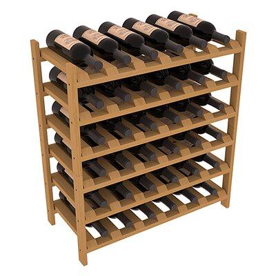 Karnes Pine Stackable 36 Bottle Floor Wine Rack Finish: Oak
