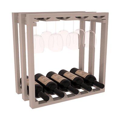 Karnes Pine Lattice Stemware Cube 10 Bottle Tabletop Wine Rack Finish: Gray Satin
