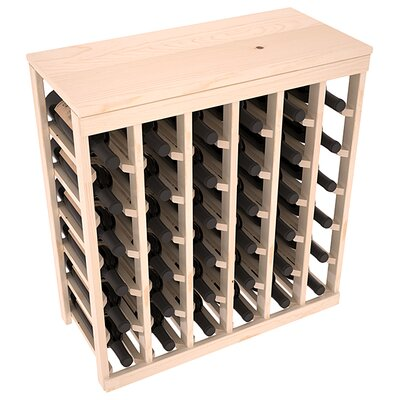 Karnes Pine 36 Bottle Floor Wine Rack Finish: Natural Satin