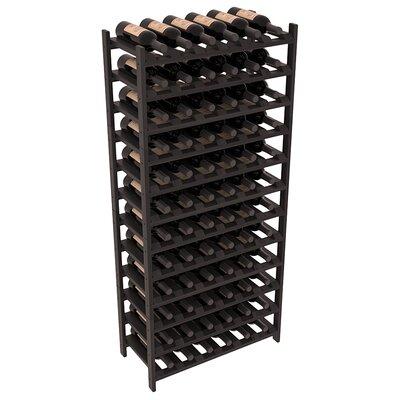 Karnes Redwood Stackable 72 Bottle Floor Wine Rack Finish: Black Satin