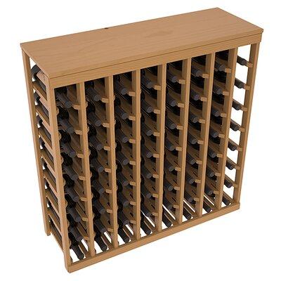 Karnes Pine 64 Bottle Floor Wine Rack Finish: Oak Satin