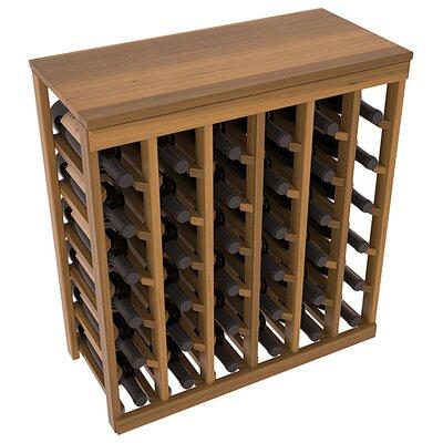 Karnes Redwood Table Top 36 Bottle Floor Wine Rack Finish: Oak Satin