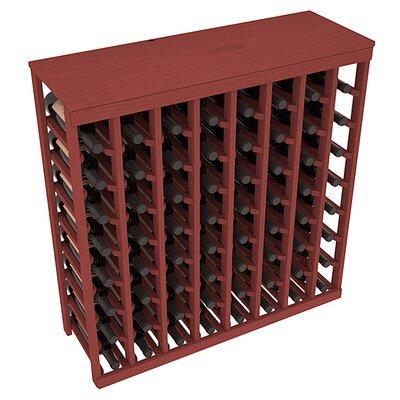 Karnes Pine 64 Bottle Floor Wine Rack Finish: Cherry