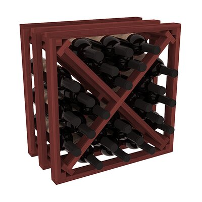 Karnes Redwood Lattice X-Cube 24 Bottle Tabletop Wine Rack Finish: Cherry