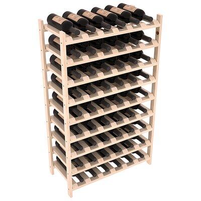 Karnes Pine Stackable 54 Bottle Floor Wine Rack Finish: Natural Satin