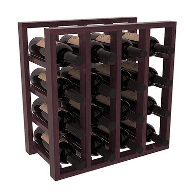 Karnes Redwood Lattice 16 Bottle Tabletop Wine Rack Finish: Burgundy Satin
