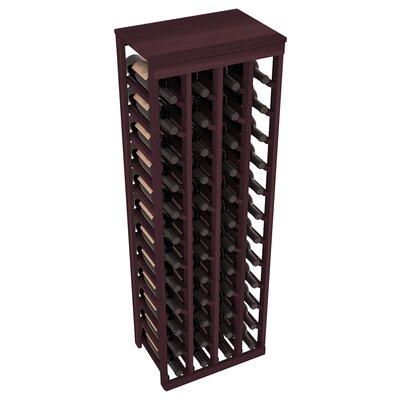Karnes Redwood Table Top 48 Bottle Floor Wine Rack Finish: Burgundy