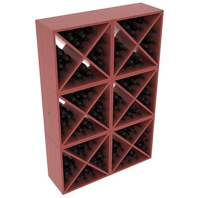 Karnes Pine X-Cube 144 Bottle Floor Wine Rack Finish: Cherry Satin