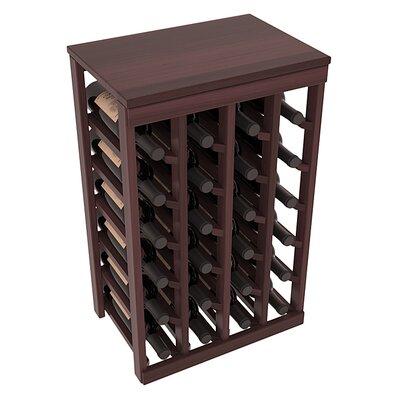 Karnes Redwood Table Top 24 Bottle Floor Wine Rack Finish: Walnut Satin