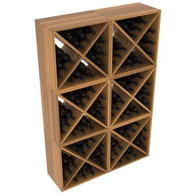 Karnes Redwood X-Cube 144 Bottle Floor Wine Rack Finish: Oak Satin