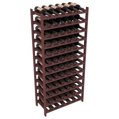 Karnes Pine Stackable 72 Bottle Floor Wine Rack Finish: Walnut