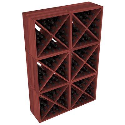 Karnes Redwood X-Cube 144 Bottle Floor Wine Rack Finish: Cherry