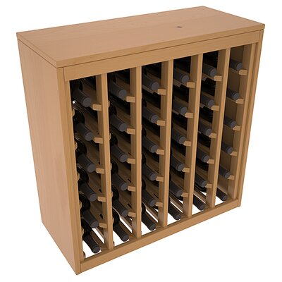 Karnes Pine Deluxe 36 Bottle Floor Wine Rack Finish: Oak Satin