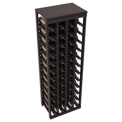 Karnes Redwood Table Top 48 Bottle Floor Wine Rack Finish: Black Satin