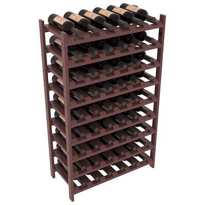 Karnes Pine Stackable 54 Bottle Floor Wine Rack Finish: Walnut Satin