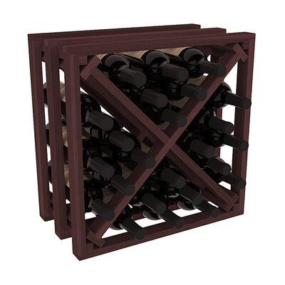 Karnes Redwood Lattice X-Cube 24 Bottle Tabletop Wine Rack Finish: Walnut