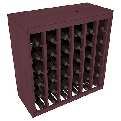 Karnes Pine Deluxe 36 Bottle Floor Wine Rack Finish: Burgundy