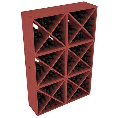 Karnes Pine X-Cube 144 Bottle Floor Wine Rack Finish: Cherry