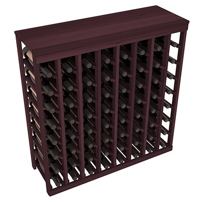 Karnes Redwood Table Top 64 Bottle Floor Wine Rack Finish: Burgundy