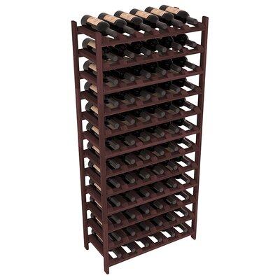 Karnes Redwood Stackable 72 Bottle Floor Wine Rack Finish: Walnut