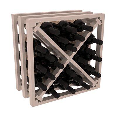 Karnes Pine Lattice X-Cube 24 Bottle Tabletop Wine Rack Finish: Gray Satin