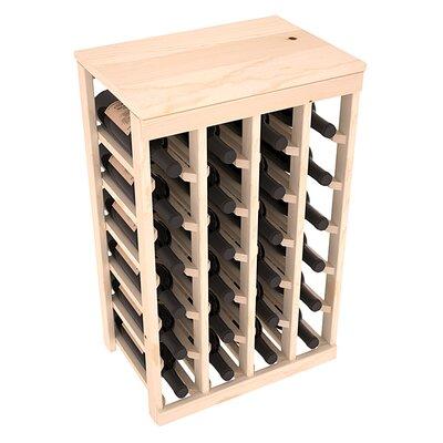 Karnes Pine 24 Bottle Floor Wine Rack Finish: Natural