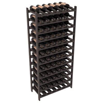 Karnes Pine Stackable 72 Bottle Floor Wine Rack Finish: Black Satin