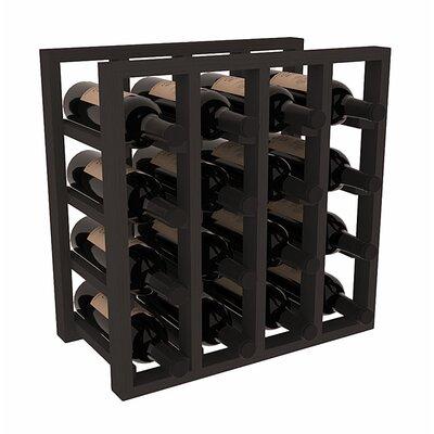 Karnes Pine Lattice 16 Bottle Tabletop Wine Rack Finish: Black