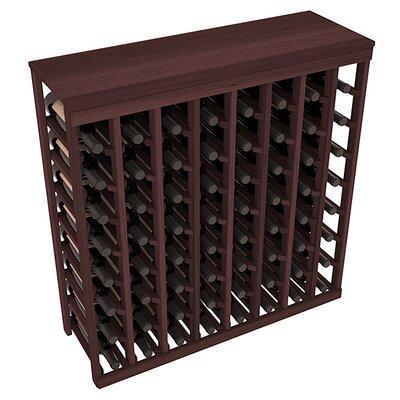 Karnes Redwood Table Top 64 Bottle Floor Wine Rack Finish: Walnut