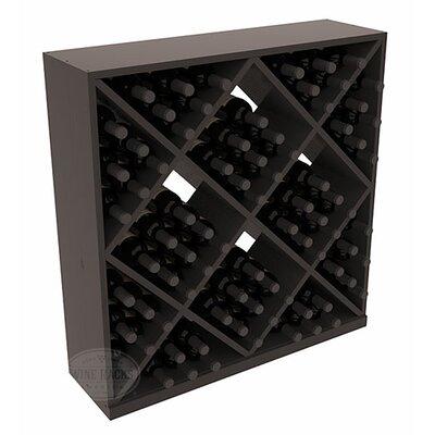 Karnes Pine Diamond Cube 82 Bottle Floor Wine Rack Finish: Black Satin
