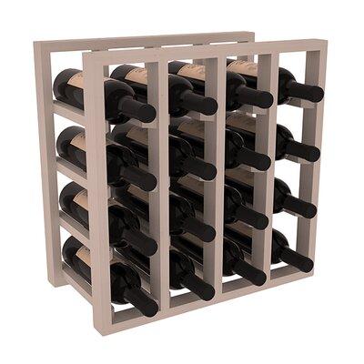 Karnes Pine Lattice 16 Bottle Tabletop Wine Rack Finish: Gray