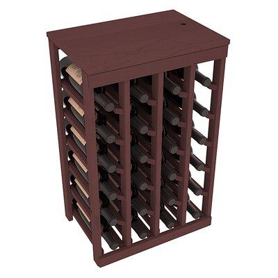 Karnes Pine 24 Bottle Floor Wine Rack Finish: Walnut