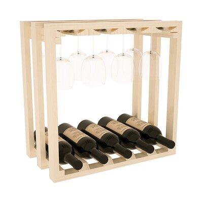 Karnes Pine Lattice Stemware Cube 10 Bottle Tabletop Wine Rack Finish: Natural Satin
