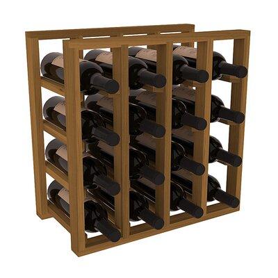 Karnes Redwood Lattice 16 Bottle Tabletop Wine Rack Finish: Oak
