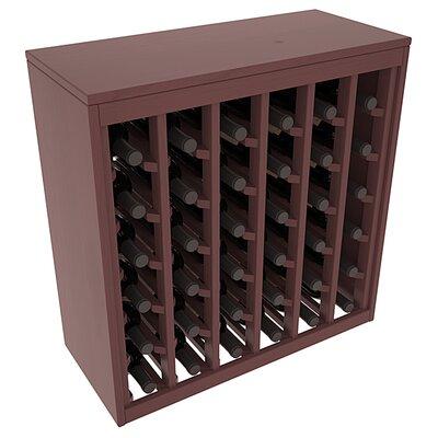 Karnes Pine Deluxe 36 Bottle Floor Wine Rack Finish: Walnut Satin