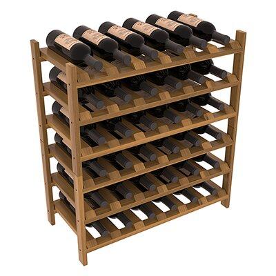Karnes Redwood Stackable 36 Bottle Floor Wine Rack Finish: Oak Satin