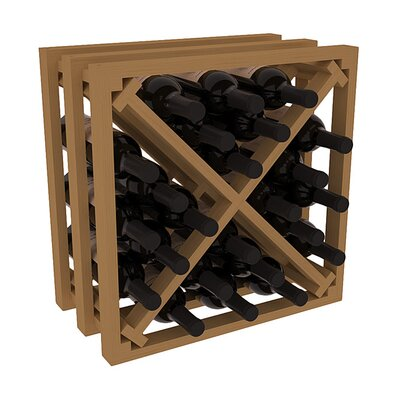 Karnes Pine Lattice X-Cube 24 Bottle Tabletop Wine Rack Finish: Oak
