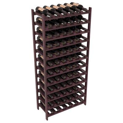 Karnes Redwood Stackable 72 Bottle Floor Wine Rack Finish: Burgundy Satin